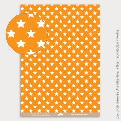 Papier Scrapbooking étoile orange