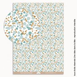 papier scrapbooking Liberty fleurs / bleu