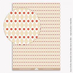 Papier Scrapbooking  Noel / geométrique