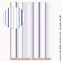 papiers scrapbooking rayures bayadères / couleurs pastels