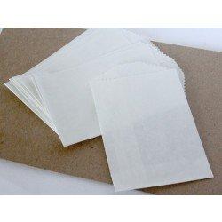 10 sachets en papier / taille S / uni / blanc
