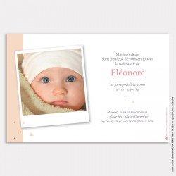Faire part naissance mini triangles / rose poudré