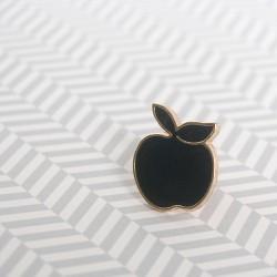pin's pomme / noir