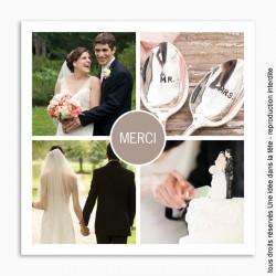 remerciements mariage / classique merci