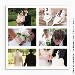 remerciements mariage / classique 6 photos / fond blanc