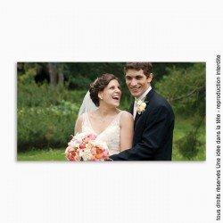 remerciements mariage / classique panoramique 1 photo