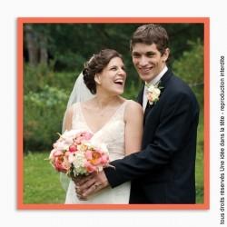 remerciements mariage / classique cadre uni