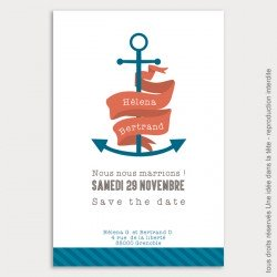 save the date mariage / marin