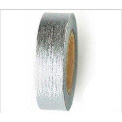 masking tape metallisé / uni - argent