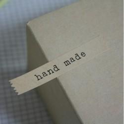"stickers ""hand made"" kraft"