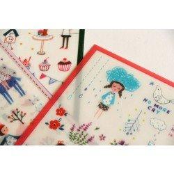 """6 planches de stickers """"les illustrations romantiques"""""""