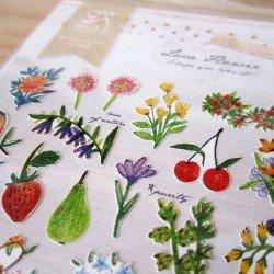 Stickers été fruits et fleurs