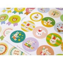 Stickers fanions et ronds / les petits animaux