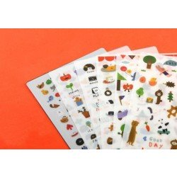 "6 planches de stickers ""sticky friends"""