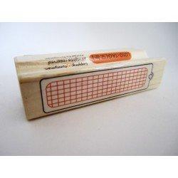 tampon en bois - étiquette / label