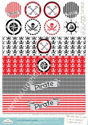 kit de d coration anniversaire les pirates. Black Bedroom Furniture Sets. Home Design Ideas