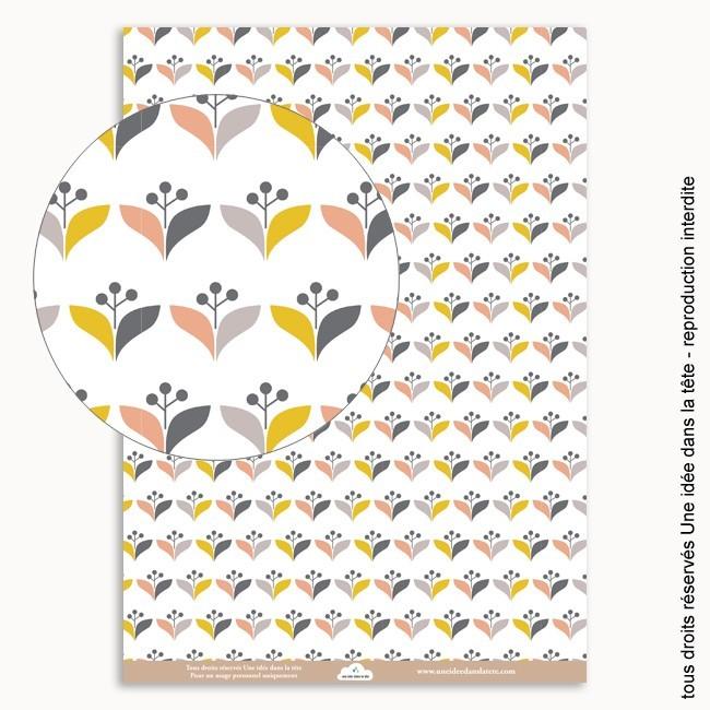 Papiers scrapbooking collection th scandinave - Motif scandinave a imprimer ...